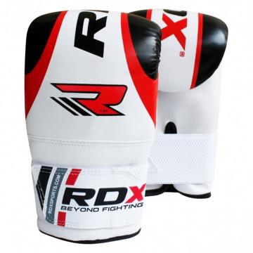 Снарядные перчатки, битки RDX Red черно-белые с красным