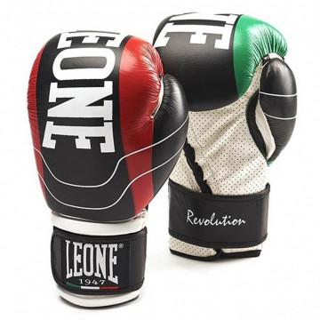 Боксерские перчатки LEONE Revolution black (10-16 oz)